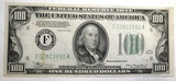 1934 $100.00 NOTE CRISP GEM UNC (INK ON REVERSE)