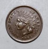 1864-L INDIAN CENT AU-58