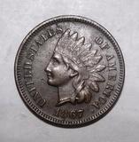 1867 INDIAN CENT AU-58