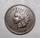 1868 INDIAN CENT AU-55