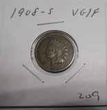 1908-S INDIAN CENT VG/FINE