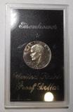 1974-S IKE PROOF SILVER DOLLARS IN CASE