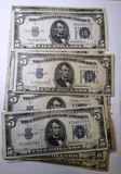 LOT OF THIRTEEN $5.00 SILVER CERTIFICATES VG-AU (13 NOTES)