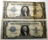 LOT OF TWO 1923 $1.00 SILVER CERTIFICATES (2 NOTES)