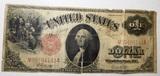 1917 $1.00 LEGALTENDER NOTE GOOD (CENTER TEAR)