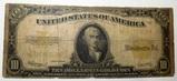 1922 $10.00 GOLD NOTE VG/FINE