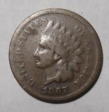 1867 INDIAN HEAD CENT G/VG