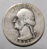 1932-D WASHINGTON QUARTER VG (BENT)
