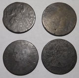 LOT OF FOUR CULL COLONIALS (4 COINS)