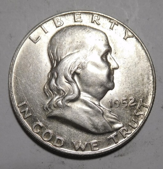 1952-D FRANKLIN HALF DOLLAR UNC