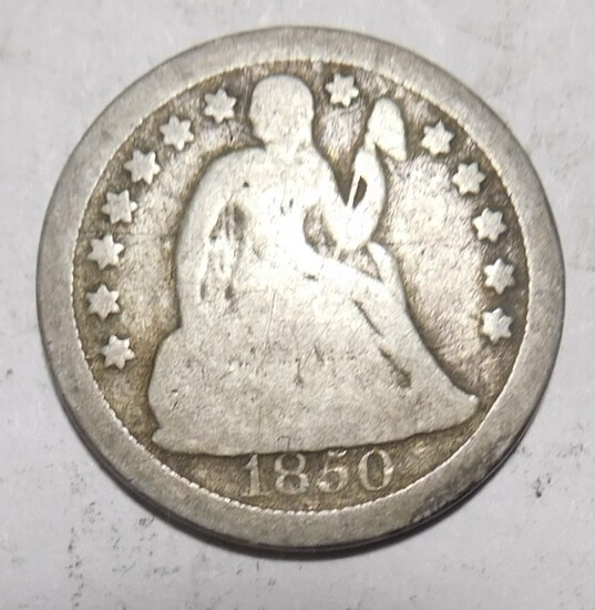 1850-O LIBERTY SEATED DIME G/VG
