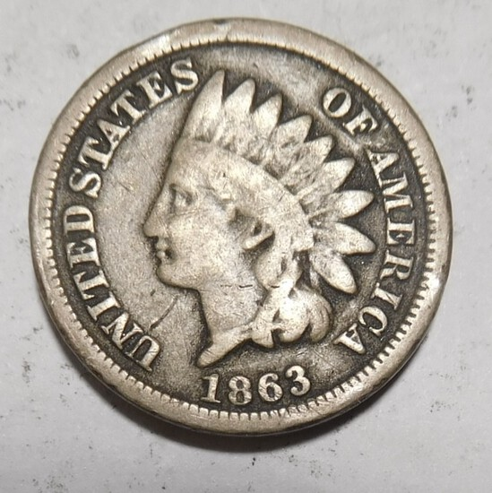 1863 INDIAN CENT VG