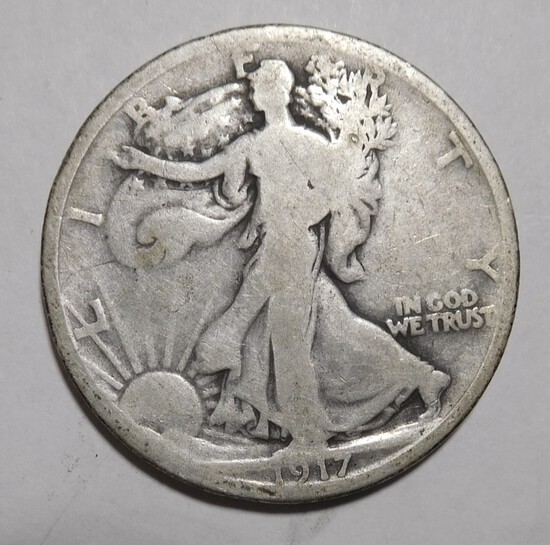 1917-D REV. WALKER HALF DOLLAR GOOD