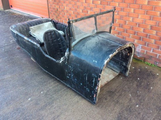 BENTLEY 3 Litre touring 4-seater body. With double opening windscreen, front and rear seats, front s