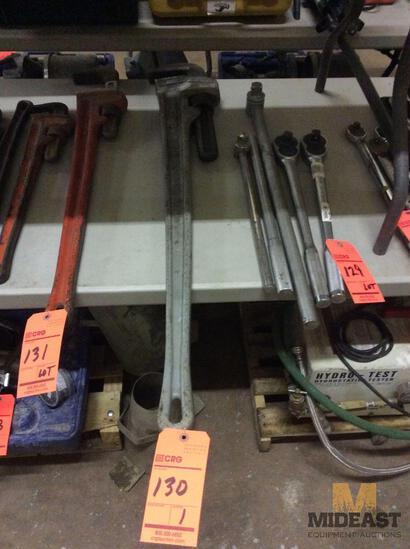Ridgid 48 inch aluminium pipe wrench