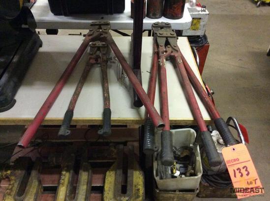Lot of asst bolt cutters