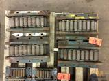 Hilman rollers, set of (4) 50 ton capacity, machinery moving dollies