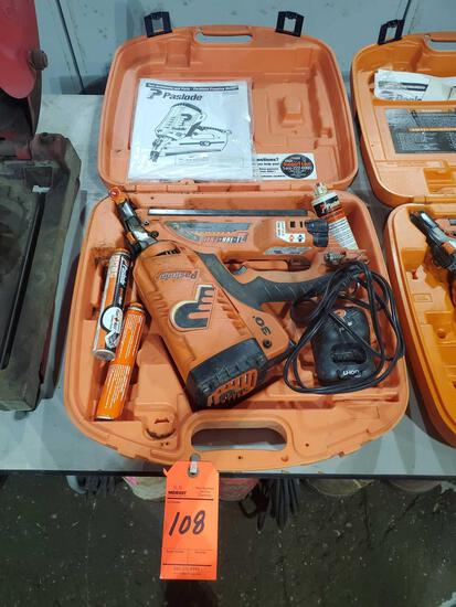 Paslode CF325LI cordless framing nailer with case