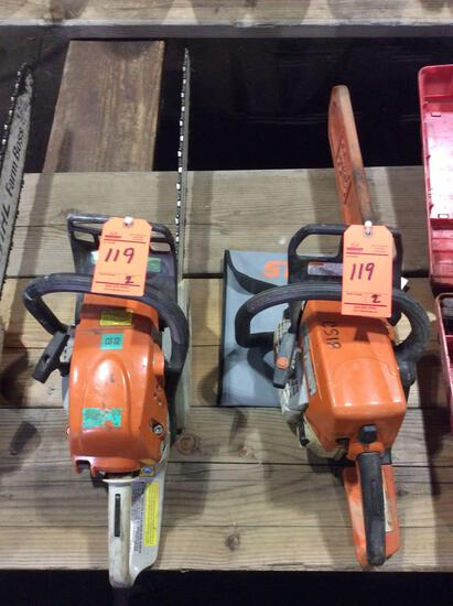 Lot of (2) asst Stihl gas chain saws