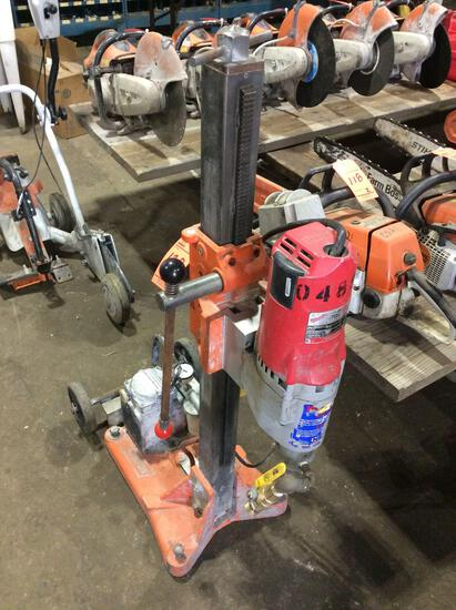 Norton Clipper DR series core drill rig with vacuum pump, Milwaukee 4096 heavy duty DymoDrill