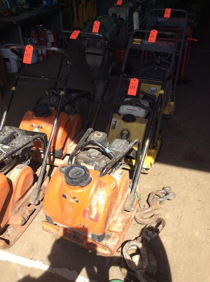 MultiQuip MVC-88VTHW single direction plate compactor with water tank, Honda GX160 motor, 68 hours