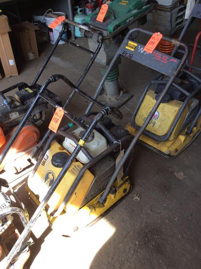 Wacker WP1550AW single direction plate compactor with water tank, with Honda GX160 motor