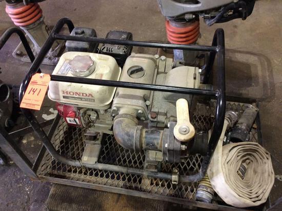 Honda WT20X portable water / trash pump, Honda GX160 motor, 2 1/2 in, 2 1/2 out