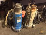 Lot of (2) submersible pumps, 3 1/4 inch out