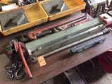 Lot,of hand tools including (3) asst pipe wrenches, (3) heavy duty torque wrenches, and (1) 1 1/2
