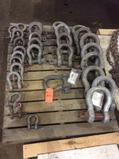 Lot of asst shackles, (CONTENTS OF SKID)