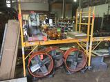 6 foot portable adjustable scaffold, 28 inch wide plank, 1250 lb capacity