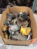Lot of asst hydraulic pumps and motors, contents of skid