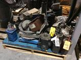 Lot of Pegson 1412 portable crusher parts, contents of skid