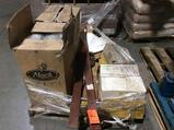 Lot of misc broom sweeper parts, contents of skid