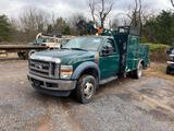 2008 Ford F550 Service Truck, vin 1FDAF57R68EB72807, tool box body, with step up, 6