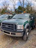 2007 Ford F550 Service Truck, vin 1FDAF57P27EA10802, tool box body with step up, 6