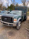 2008 Ford F550 Utility Truck,, International power stroke VB 6.4 L Engine, Air Conditioner,