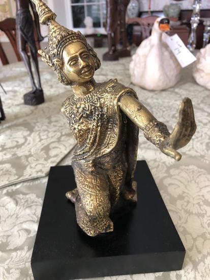"Thai brass statue 11"" tall"