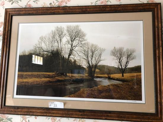 "36"" x 52"" Peter Sculthorpe stream, #14 of 96 made, Giclee print"