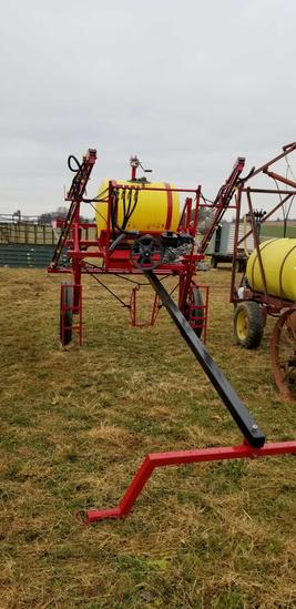 Fisher High Clearance Sprayer 36 Ft Boom 110 Gal. Tank W/ Robin Engine & High Pressure Pump