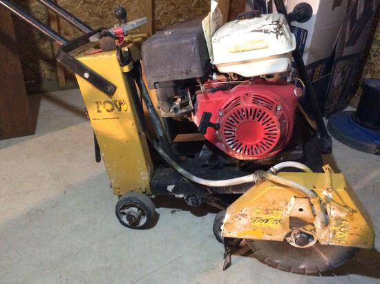 Stow concrete saw with Honda engine and 14 inch blade