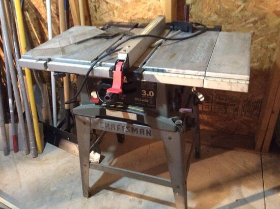 Craftsman table saw with fence