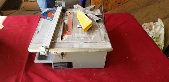 "7""Wet tile saw"