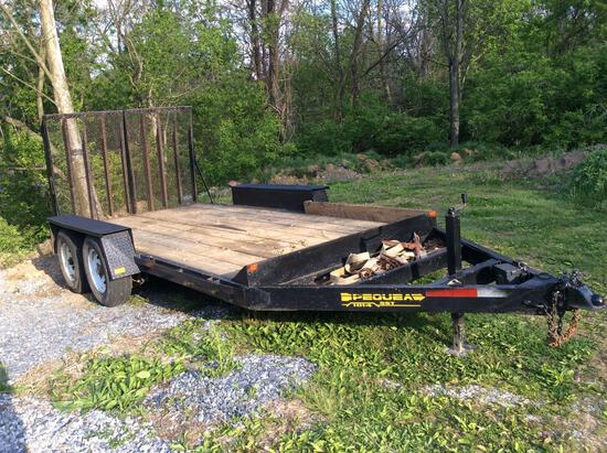 Pequea 10,000 LBS skid loader trailer