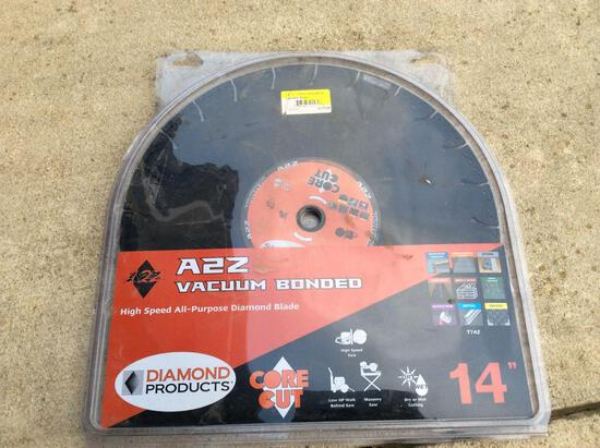 A2Z vacuum bonded all purpose diamond blade 14in