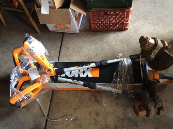 Worx battery trimmers and hedge clipper