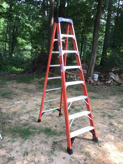 Werner 8 ft fiberglass step ladder