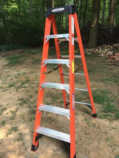 Werner 6 ft fiberglass step ladder