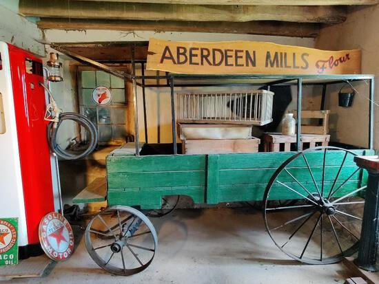 US Civil War ambulance flour wagon