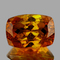 Natural Rare Bi -Color Yellow Orange Sphalerite 13x9 MM